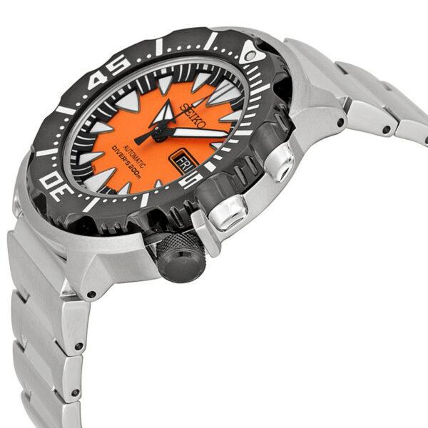 SEIKO Divers Monster SRP315 SRP315K2 Black Orange Dial Mens Watch
