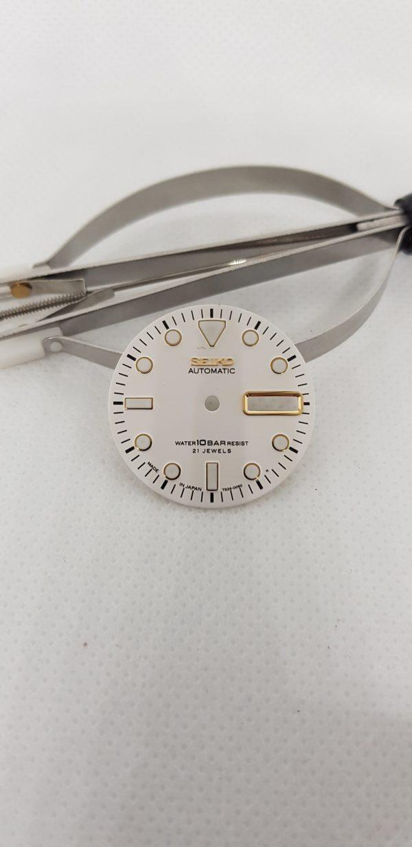 Seiko SKX Super White Dial Gold Markers 7S26 4R 6R