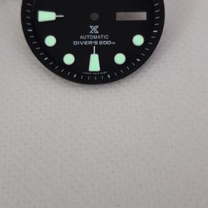 Seiko Prospex Black Dial for SKX Turtle Sumo 7S26 4R36 6R